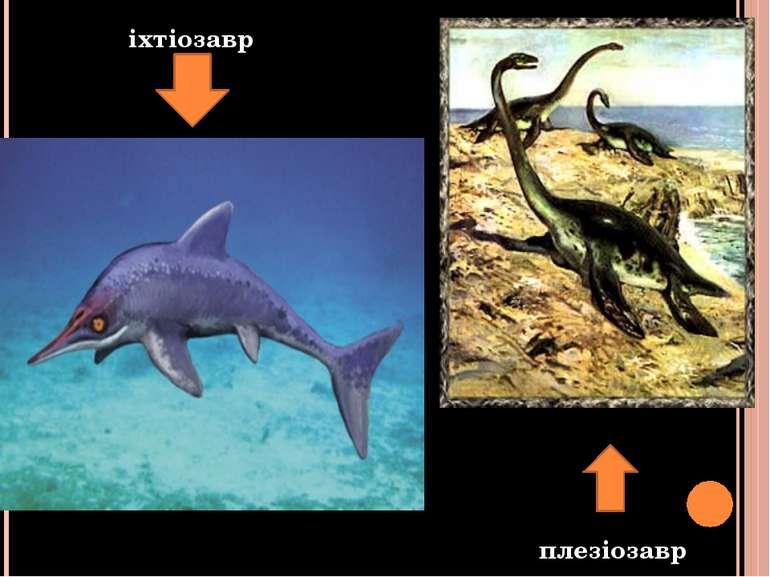 іхтіозавр плезіозавр