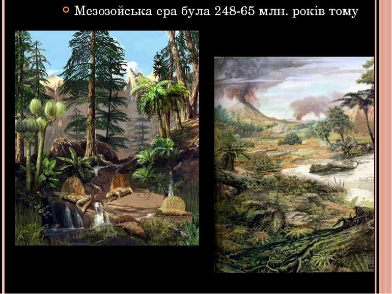 Мезозойська ера була 248-65 млн. років тому