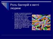 Роль бактерій в житті людини Бактерії - це примітивні одноклітинні організми,...