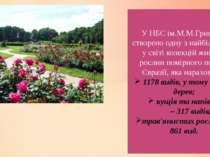 У НБС ім.М.М.Гришка створено одну з найбільших у світі колекцій живих рослин ...