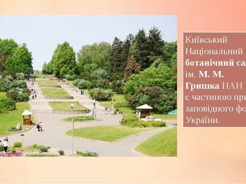 Київський Національний ботанічний сад ім.М. М. ГришкаНАН України є частин...