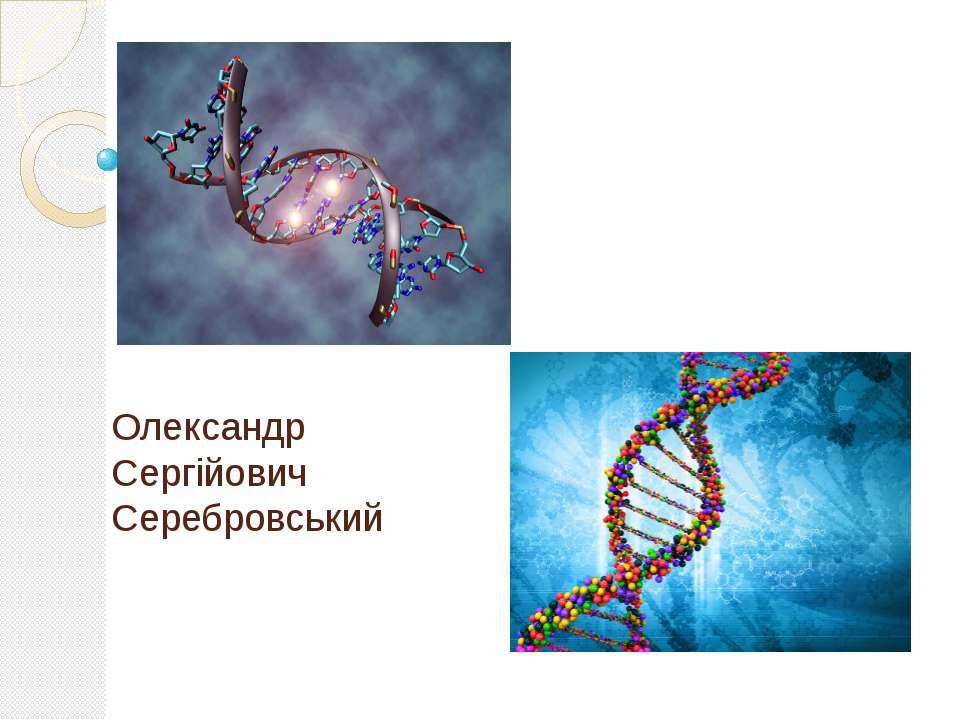 Його вклад в генетику Олександр Сергійович Серебровський