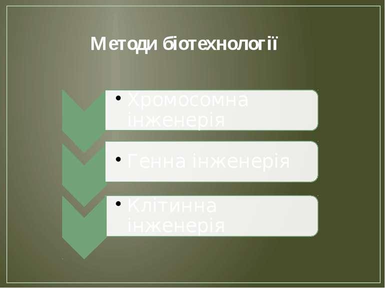 Методи біотехнології