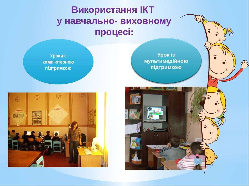 Використання ІКТ у навчально- виховному процесі: Уроки з комп'ютерною підтримкою