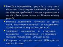 Розробка інформаційних ресурсів, у тому числі підготовка комп'ютерних презент...