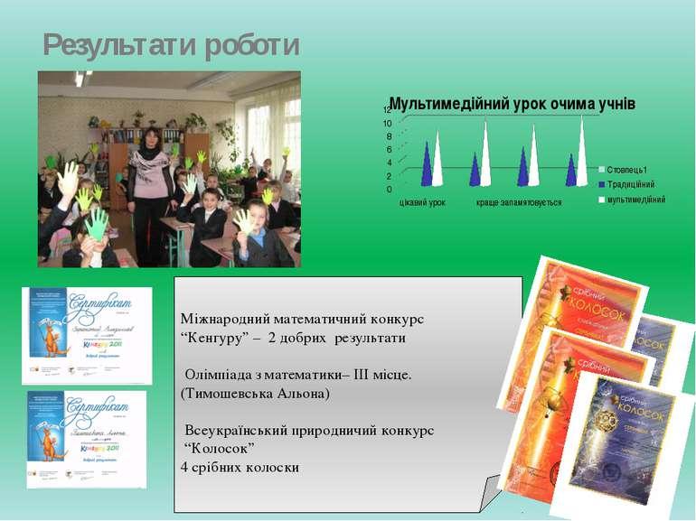 """Результати роботи Міжнародний математичний конкурс """"Кенгуру"""" – 2 добрих резул..."""
