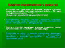 Щорічне навантаження у кредитах Науковий звіт з проблеми дослідження (реферат...