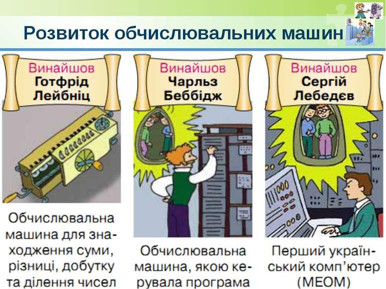 Розвиток обчислювальних машин © Вивчаємо інформатику teach-inf.at.ua