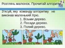 www.teach-inf.at.ua Розглянь малюнок. Прочитай алгоритм. З'ясуй, яку команду ...
