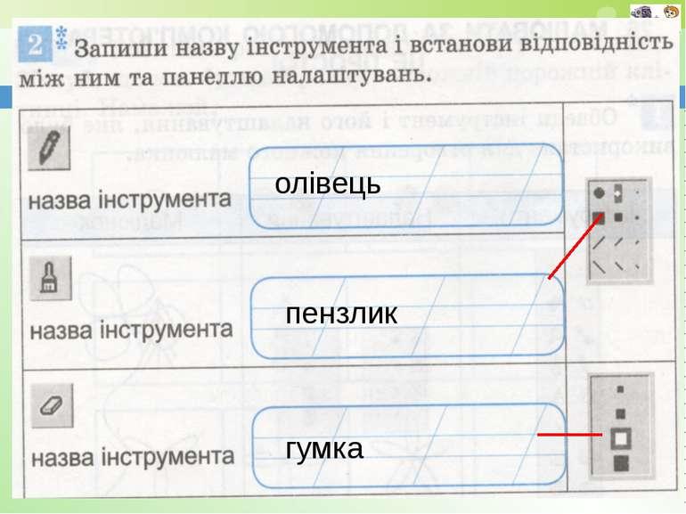 www.teach-inf.at.ua олівець пензлик гумка