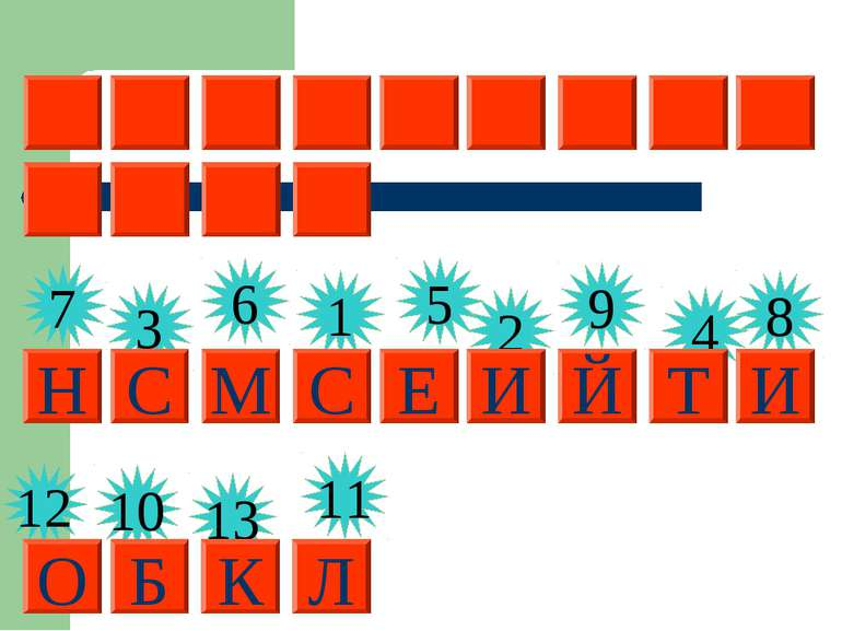 3 1 6 5 2 9 4 7 8 12 10 13 11 С И С Т Е М Н И Й Б Л О К