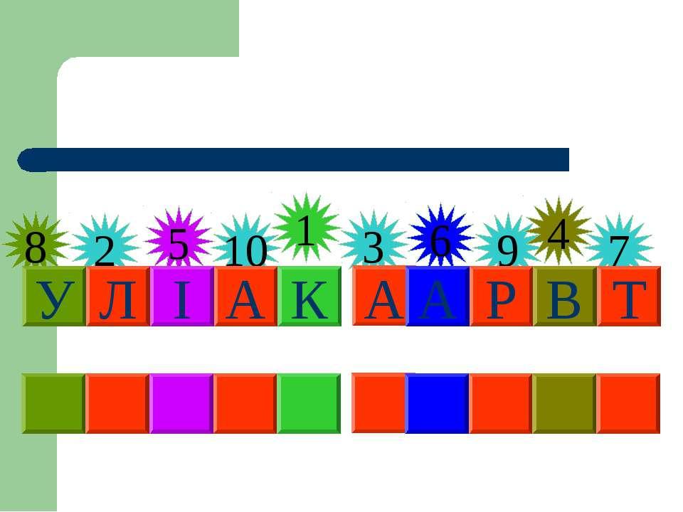8 5 10 1 3 6 9 4 2 7 К Л А В І А Т У Р А