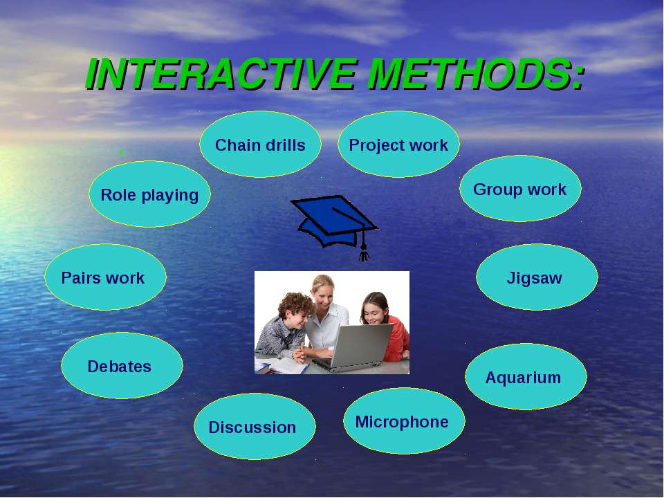 INTERACTIVE METHODS: Chain drills Discussion Debates Project work Microphone ...