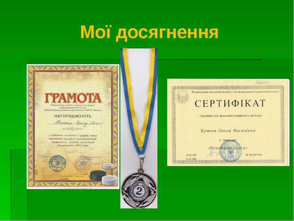 Мої досягнення