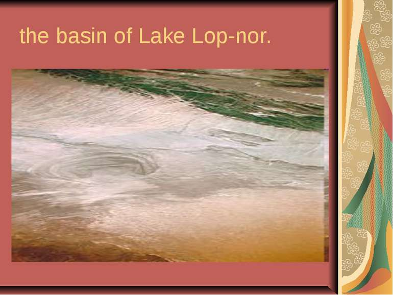 the basin of Lake Lop-nor.