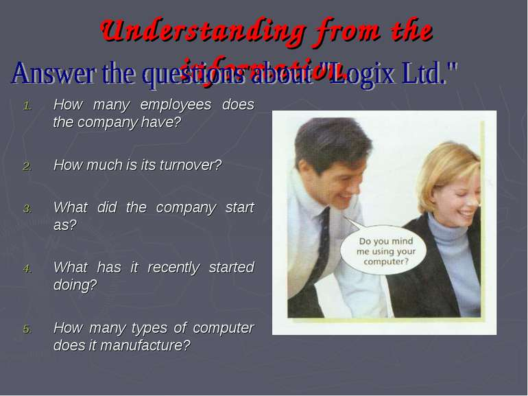 Understanding from the information. How many employees does the company have?...
