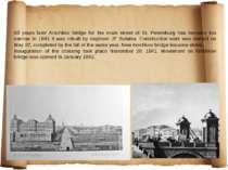 60 years later Anichkov bridge for the main street of St. Petersburg has beco...