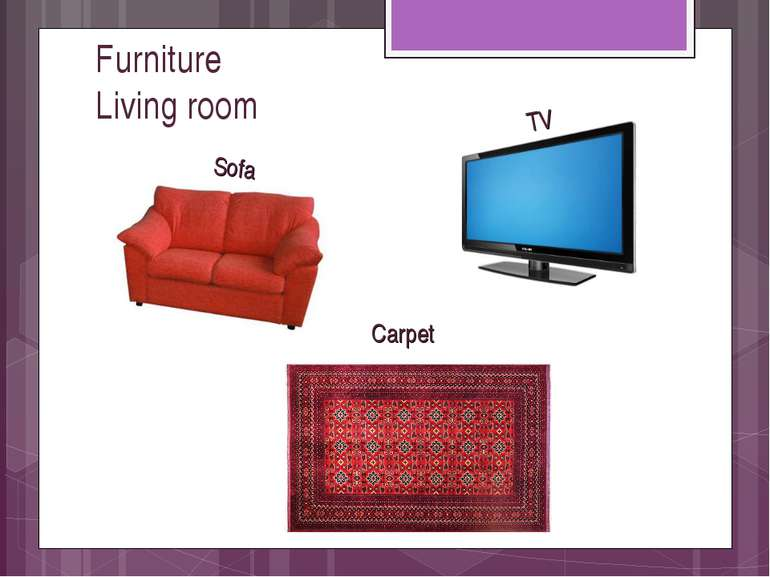 Furniture Living room Sofa TV Carpet