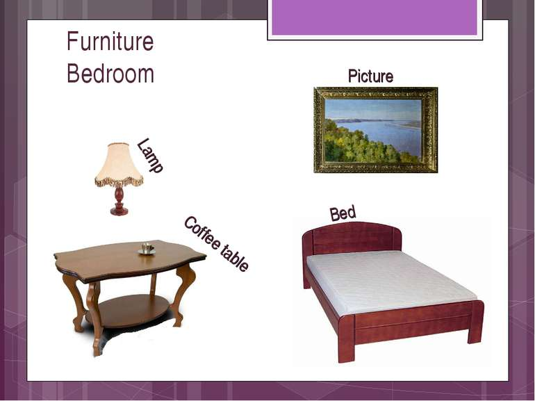 Furniture Bedroom Bed Lamp Coffee table Picture