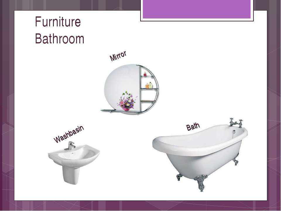 Furniture Bathroom Bath Mirror Washbasin