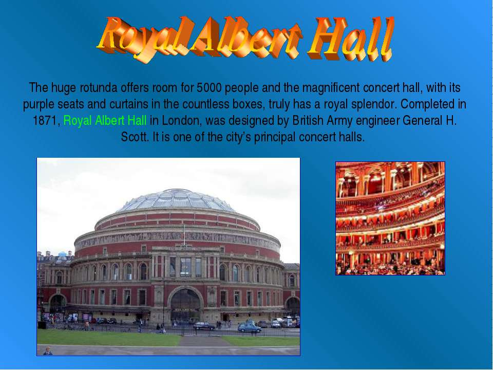 The huge rotunda offers room for 5000 people and the magnificent concert hall...