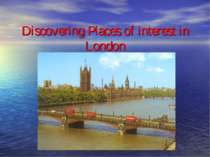 Discovering Places of interest in London