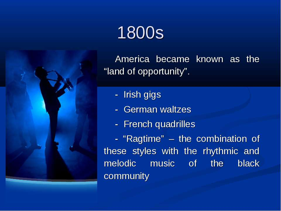 """1800s America became known as the """"land of opportunity"""". - Irish gigs - Germ..."""