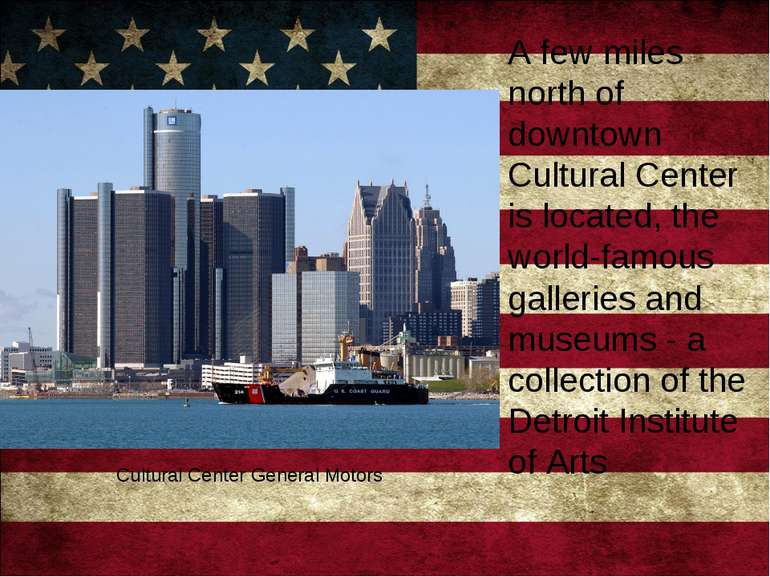 A few miles north of downtown Cultural Center is located, the world-famous ga...