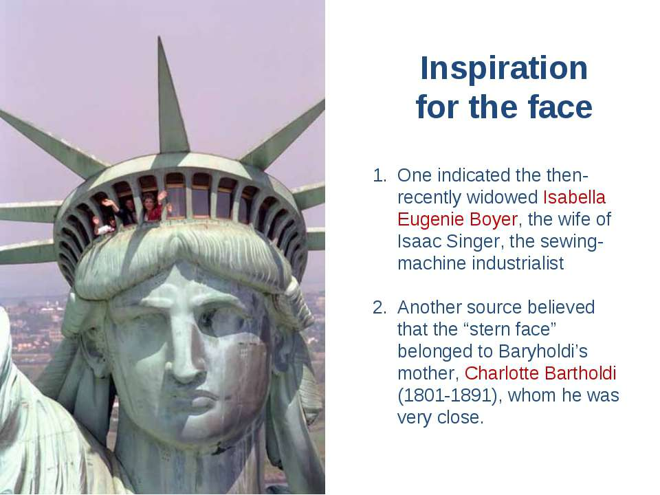 Inspiration for the face One indicated the then-recently widowed Isabella Eug...