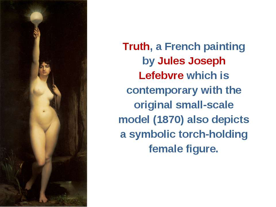 Truth, a French painting by Jules Joseph Lefebvre which is contemporary with ...