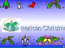 American Christmas Работа Бухаевой С.Б.