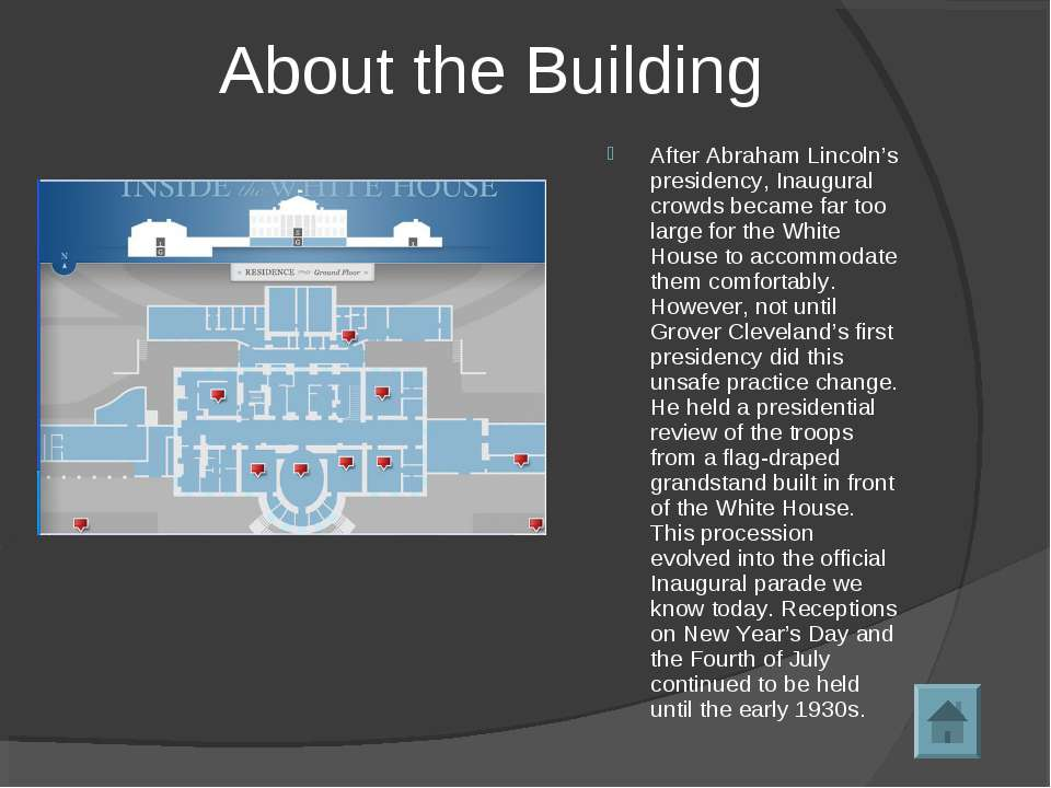 About the Building After Abraham Lincoln's presidency, Inaugural crowds becam...
