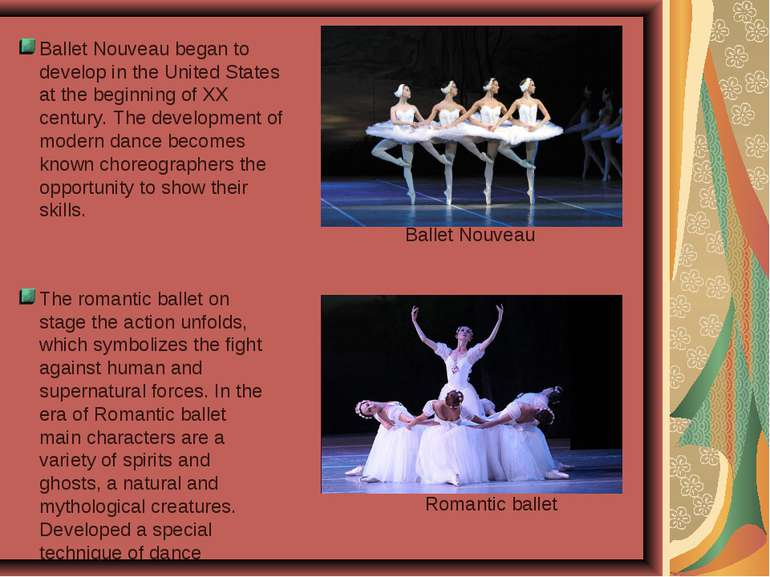 Ballet Nouveau began to develop in the United States at the beginning of XX c...