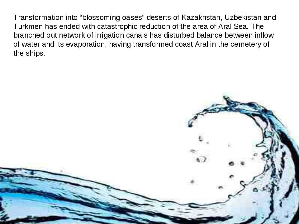 """Transformation into """"blossoming oases"""" deserts of Kazakhstan, Uzbekistan and ..."""