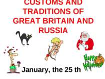 Customs and traditions of great britain and russia
