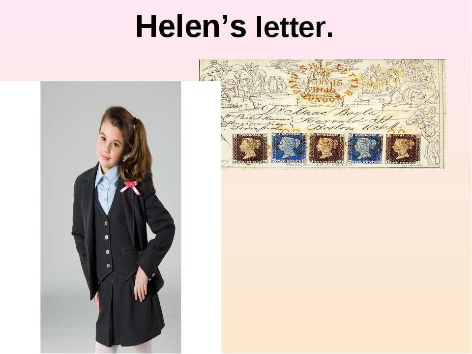 Helen's letter.