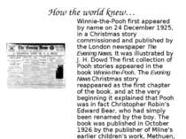 How the world knew… Winnie-the-Pooh first appeared by name on 24 December 192...