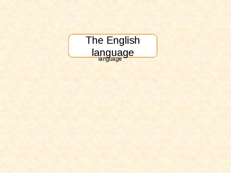 The English language The English language