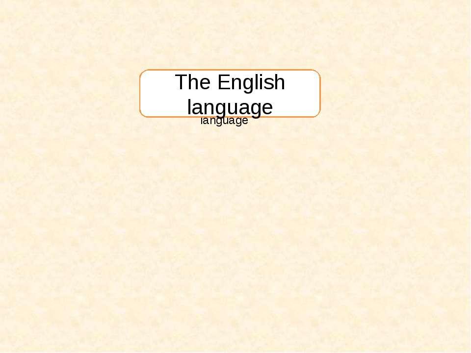 The English language The English language