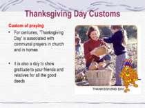 Thanksgiving Day Customs Custom of praying For centuries, 'Thanksgiving Day' ...