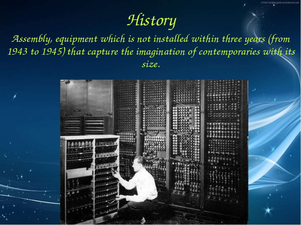 History Assembly, equipment which is not installed within three years (from 1...