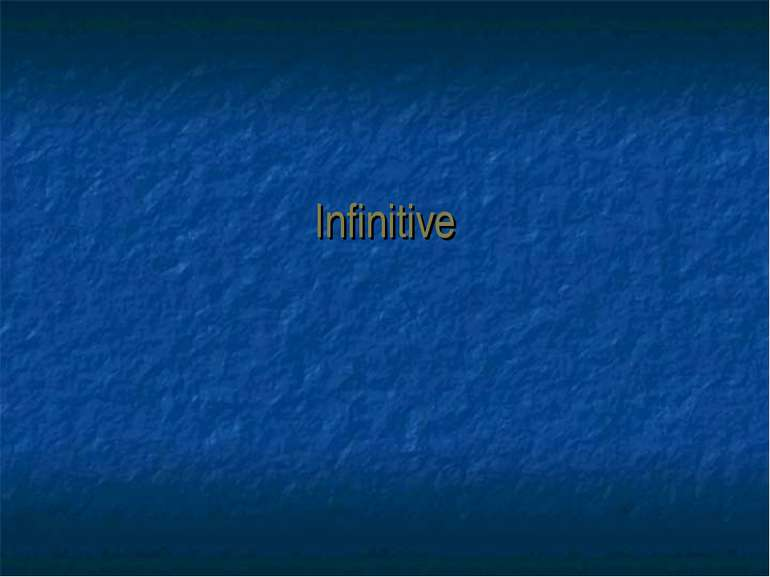 Infinitive
