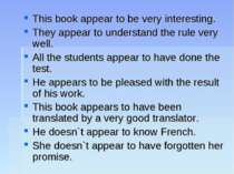 This book appear to be very interesting. They appear to understand the rule v...