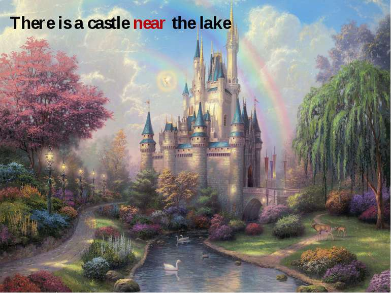 There is a castle near the lake