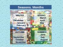 Seasons. Months WINTER December January February SPRING March April May AUTUM...