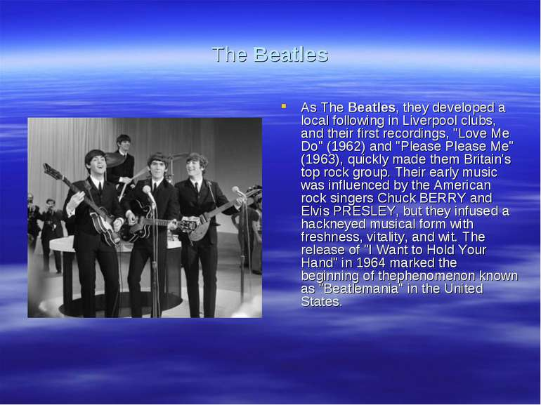 The Beatles As The Beatles, they developed a local following in Liverpool clu...