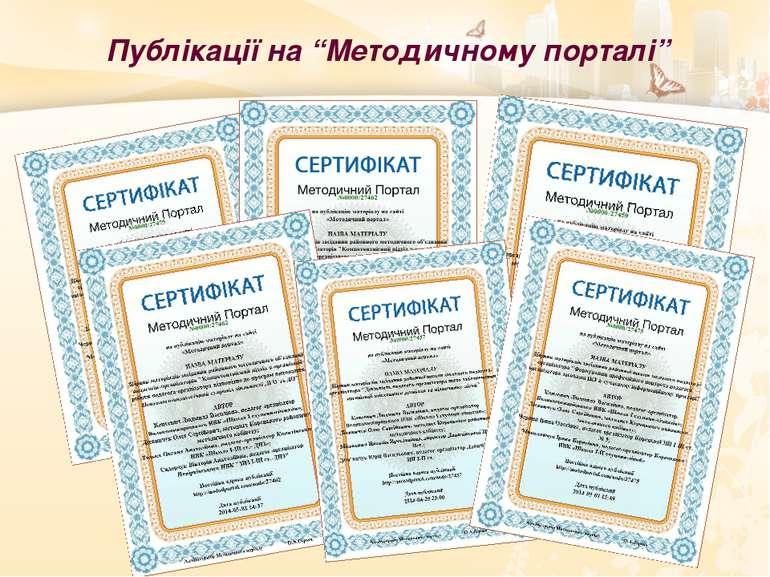 """Публікації на """"Методичному порталі"""""""