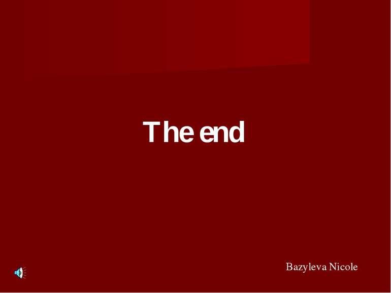 The end Bazyleva Nicole