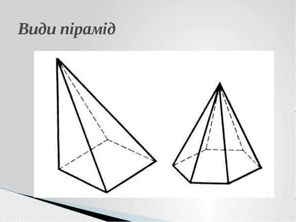Види пірамід