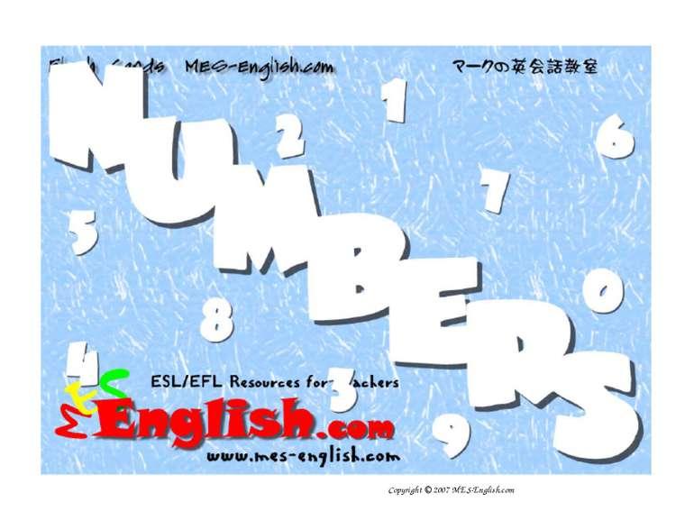 Copyright © 2007 MES-English.com